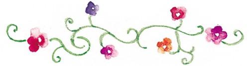 flowers-on-scroll