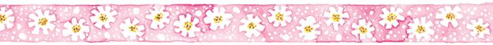 Susan Branch pink-daisy-border