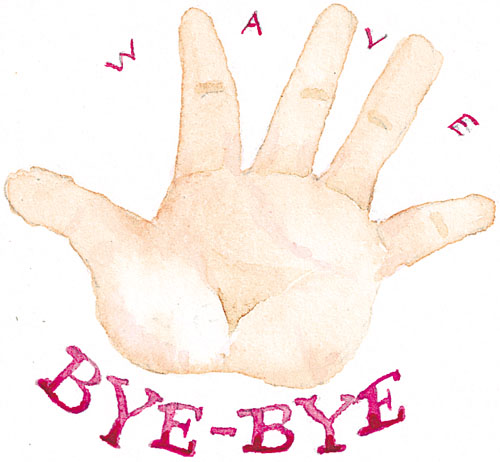wave bye bye