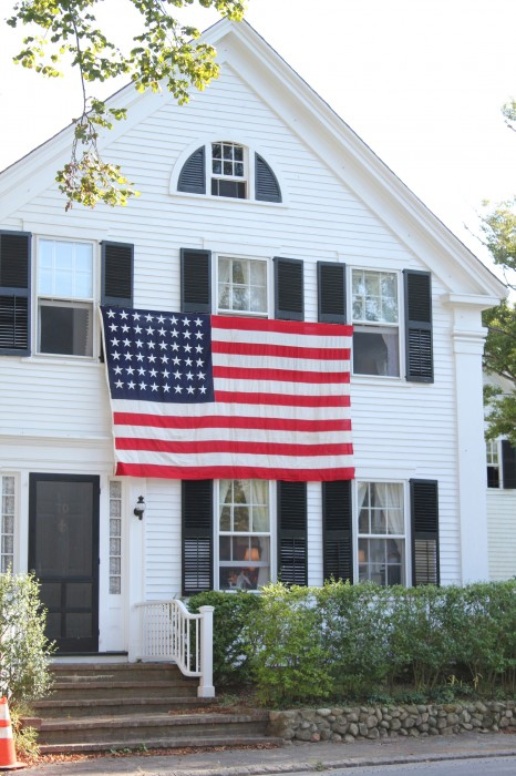 Our House with the flag