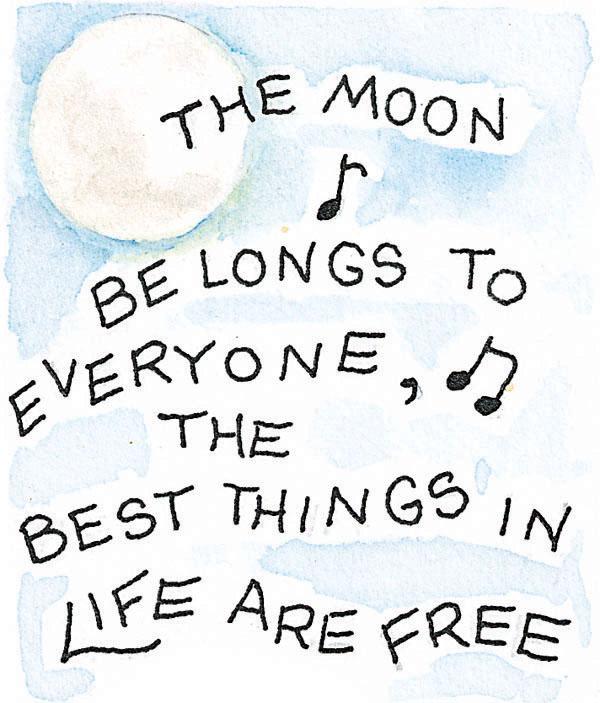 The moon belongs to everyone artwork Susan Branch