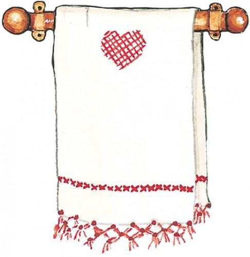 dish towel art susan branch