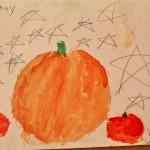 pumpkin art by Jessie and Sydney