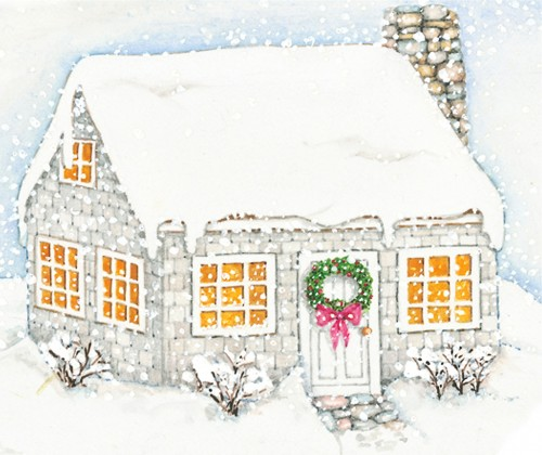my first house in the snow