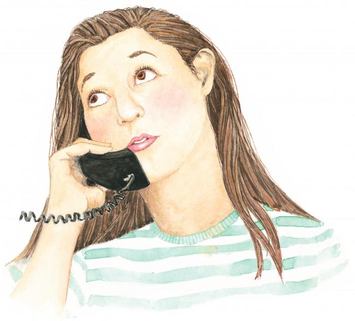 girlfriends on phone