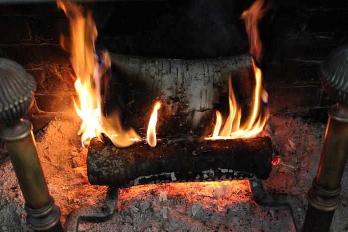 Joe made us a fire