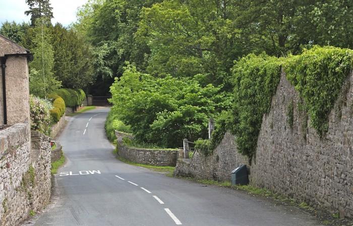stone walls line the roads