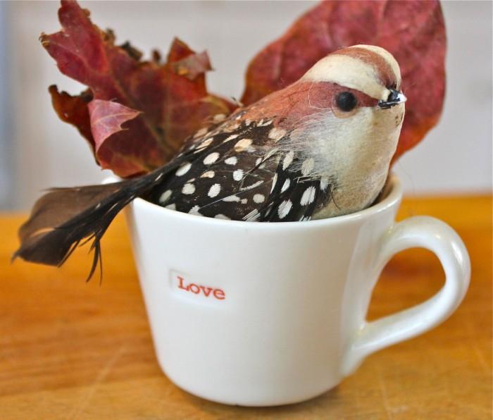 Bird in a love cup