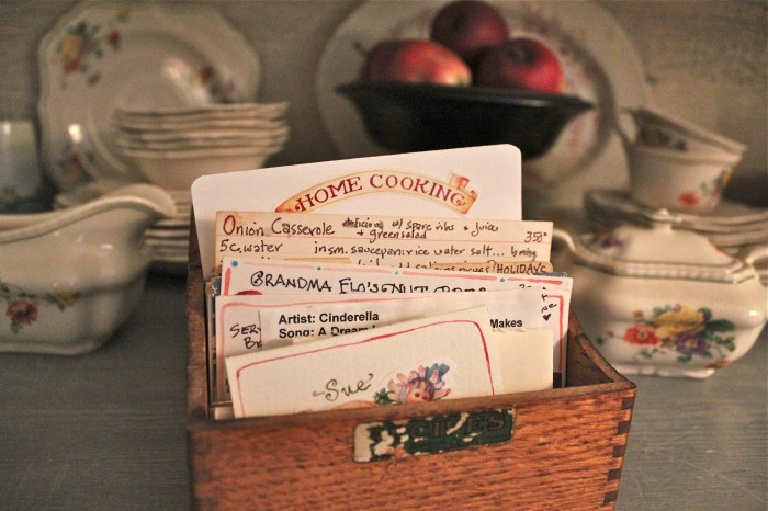 Old recipe boxes