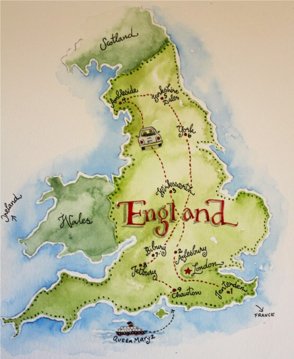 Where we went in England