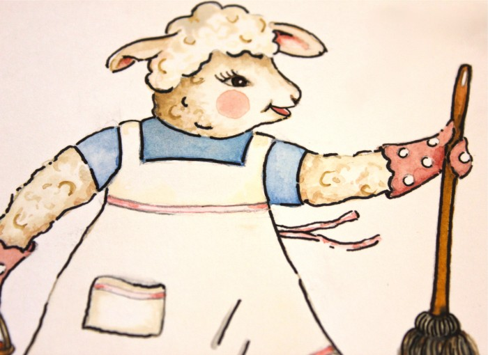 Lambie Pie goes to work