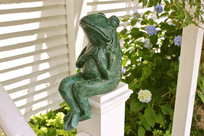 my frog is green now