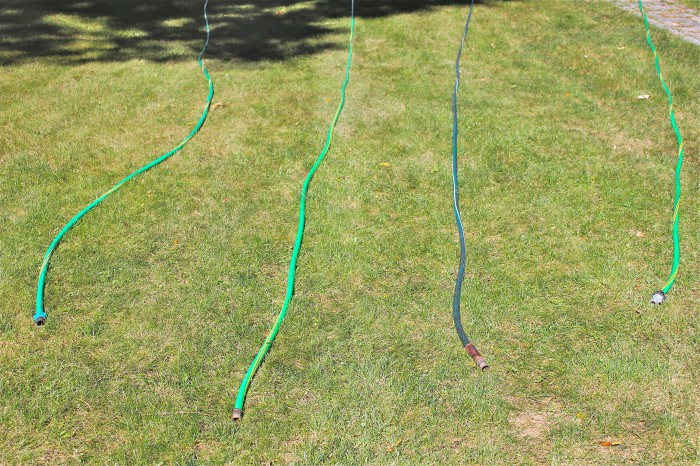 draining the hoses