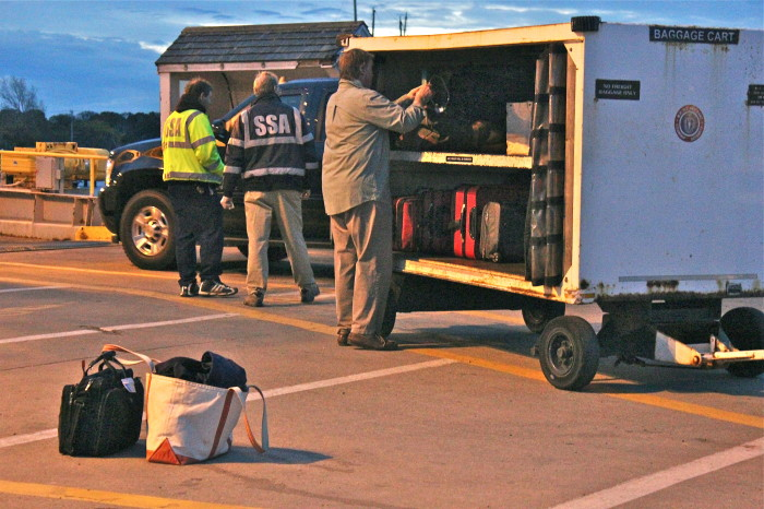 Joe, loading up the cart