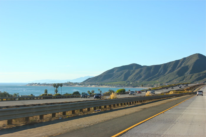 driving north on Highway One