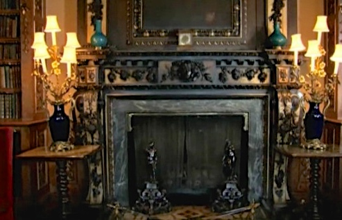 Downton Fireplace in the Library