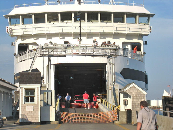 The ferry in Vineyard Haven