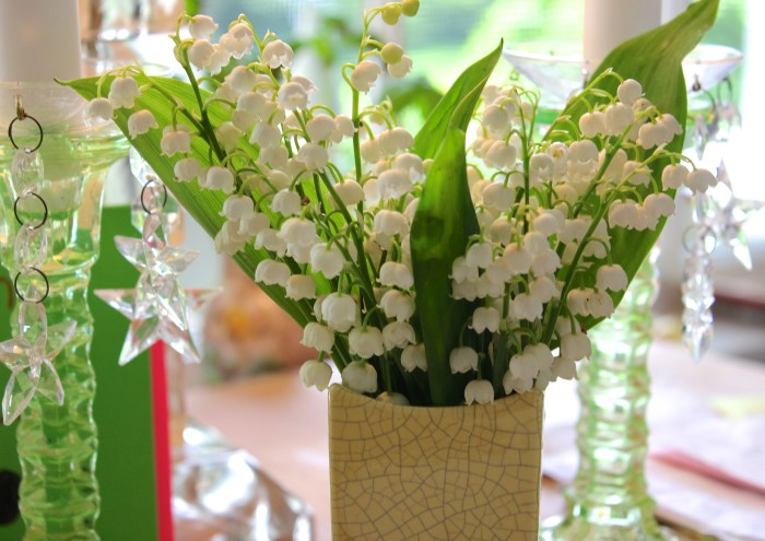 Vintage Vase with Lily of the Valley
