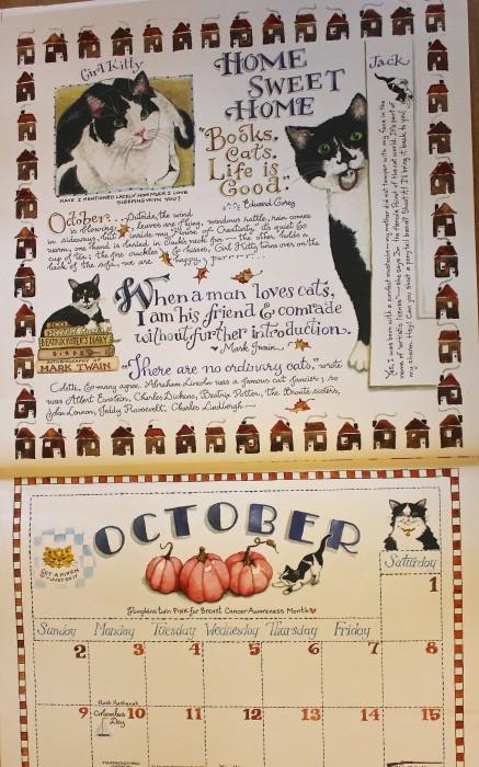 October pro kitty 2016 calendar
