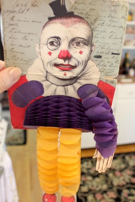 old clown card