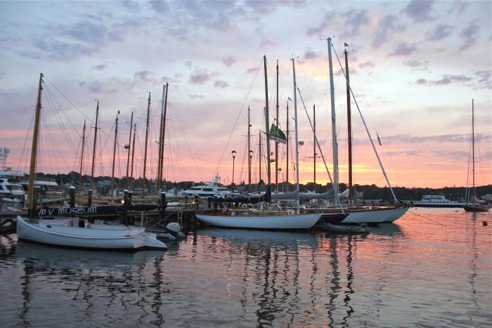 Harbor at sunset Martha's Vineyard