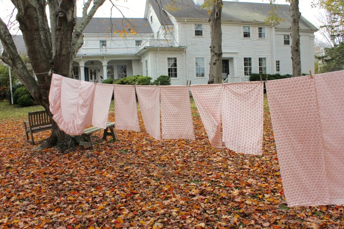 drying sheets on the line