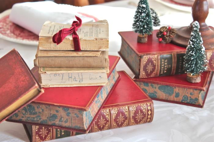 books as table decor