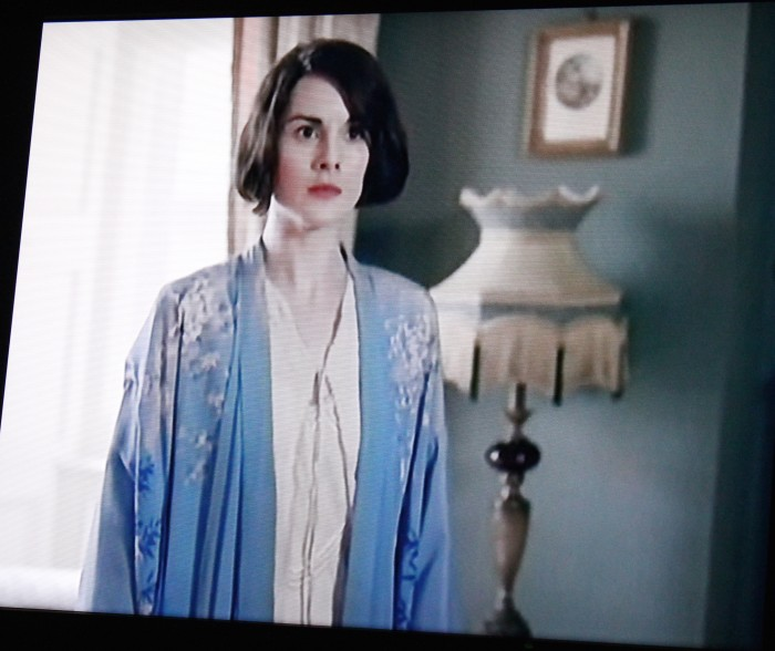 Lady Mary and her blue robe