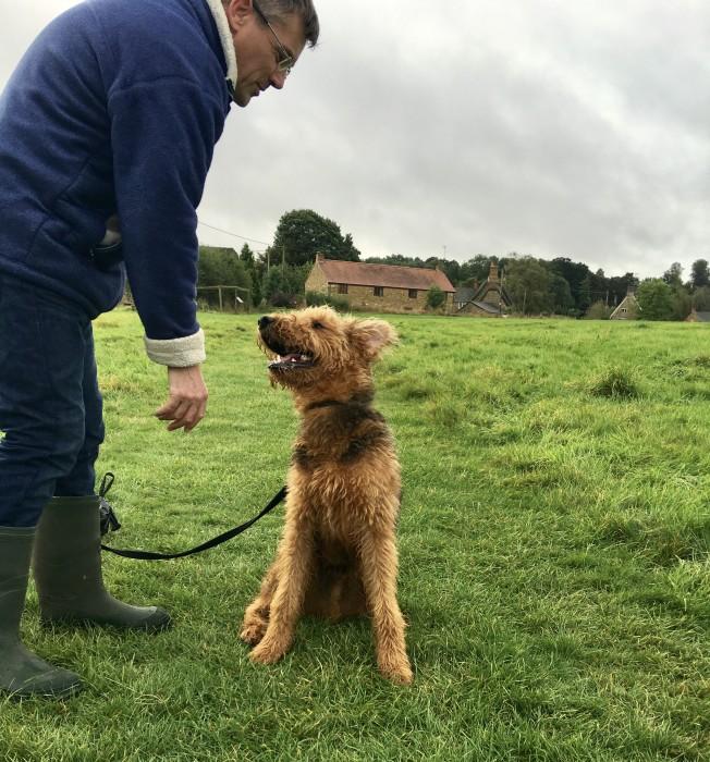 met Peter with dog Rex on walk